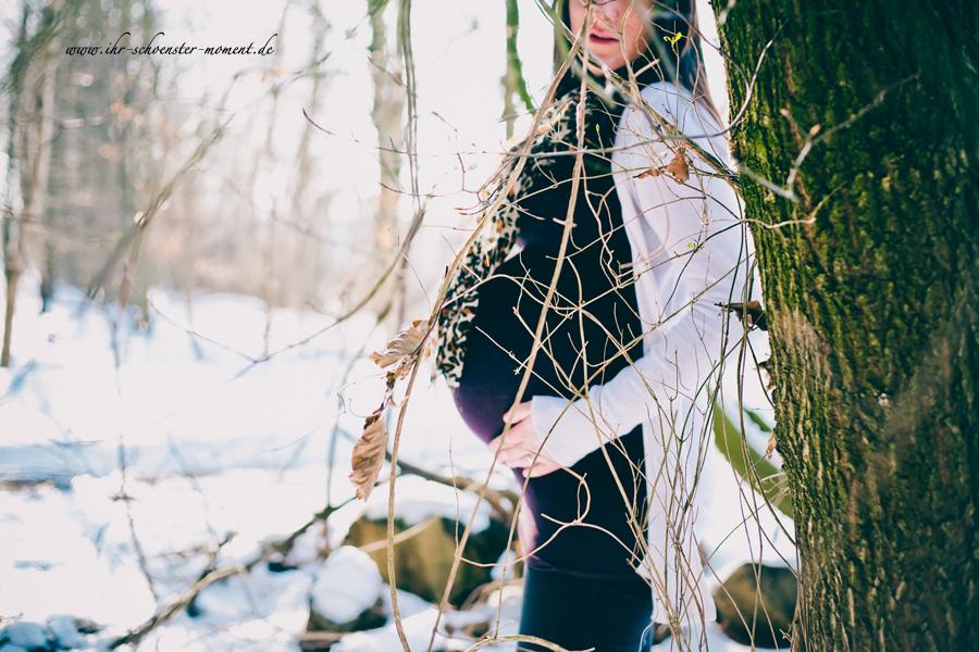 babybauchbilder schnee apensen
