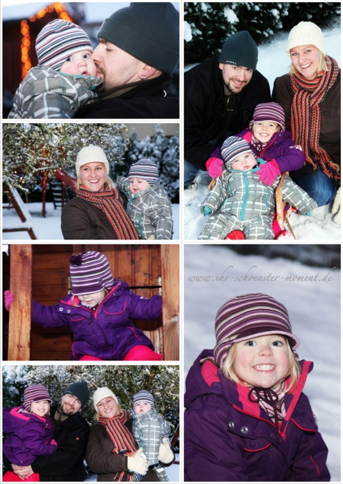 Collage Familienfotos im winter blog