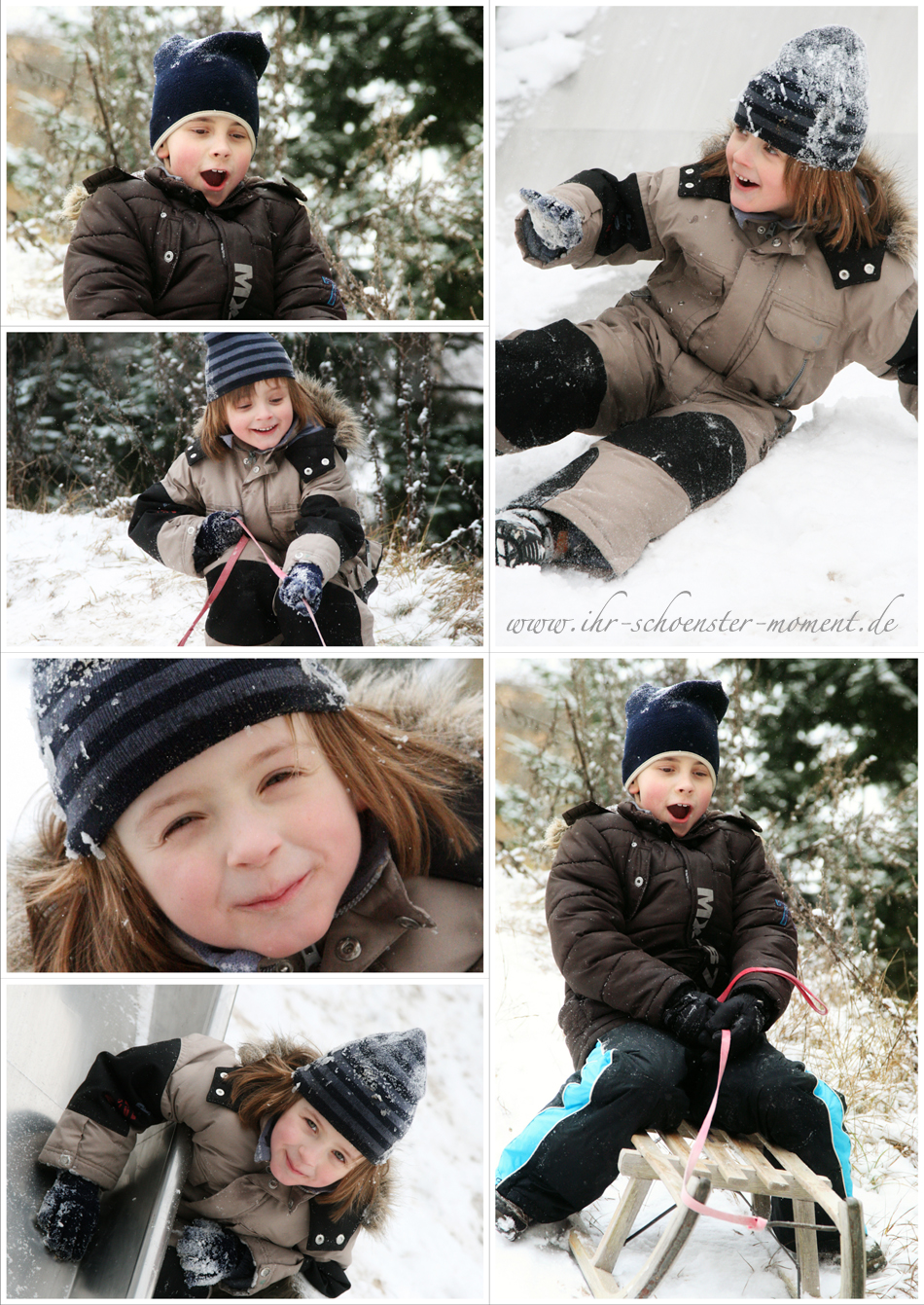 collage winter kinderfotos blog