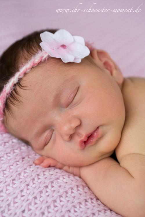 neugeboren rosa haarband