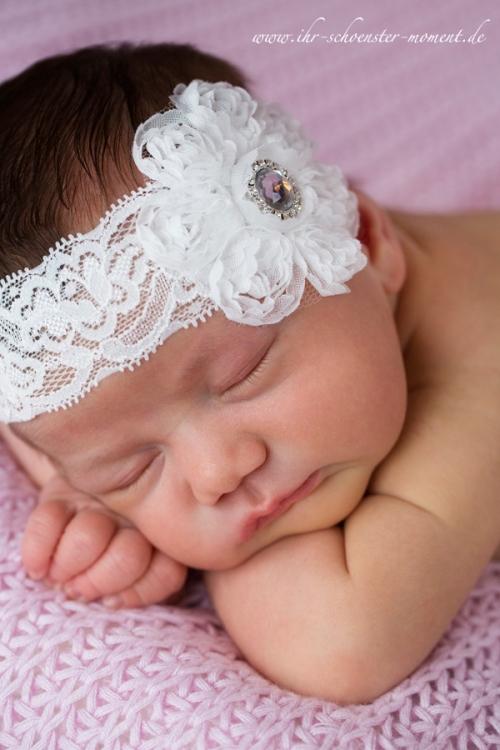 neugeboren weißes haarband