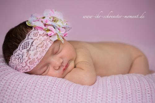 neugeborenenfotografie rosa