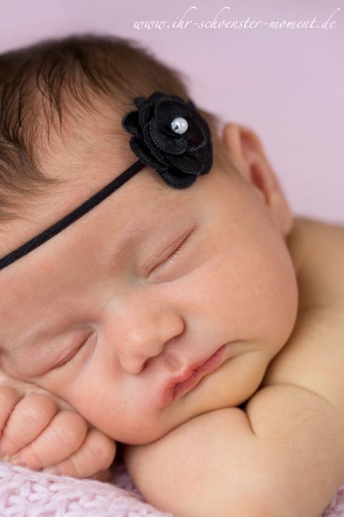 neugeborenes schwarzes haarband