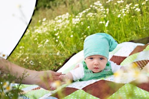 Making of babyfotografie