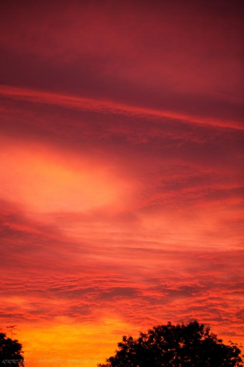 spektakulärer abendhimmel buxtehude-5