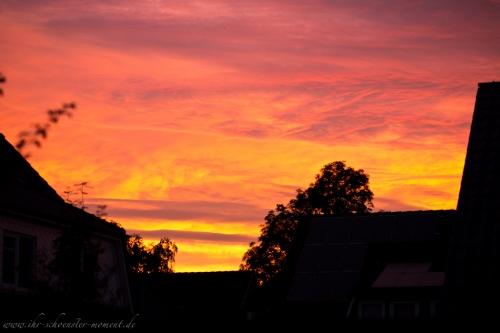 wunderschöner abendhimmel buxtehude