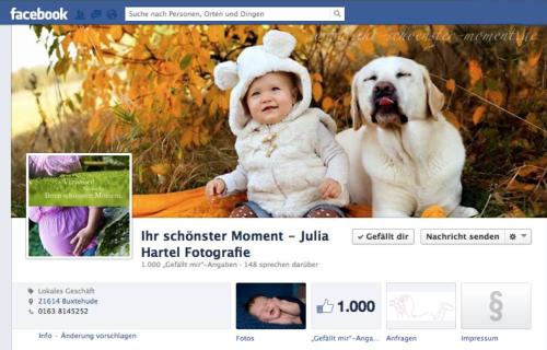1000 Fans bei Facebook