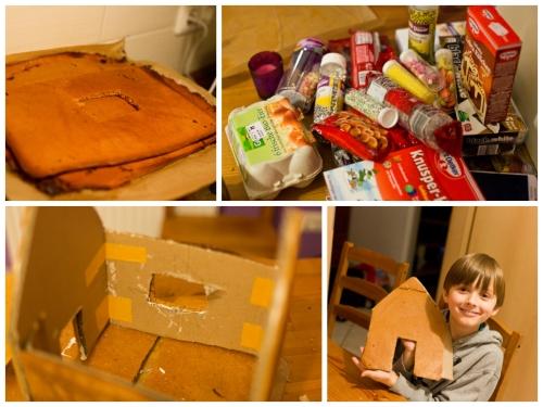 Hexenhaus collage vorbereitung