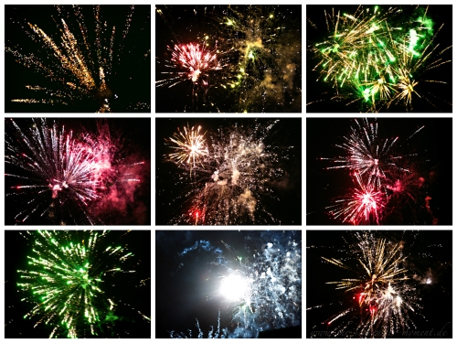 Collage Feuerwerk Silvester 2013 Facebook