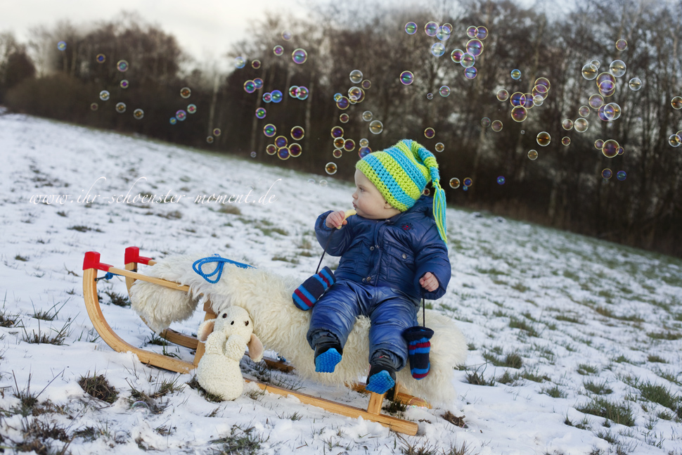 Kinderfotografie im Winter