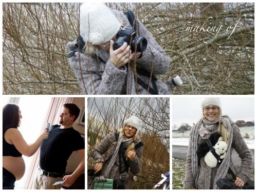 making of babybauch im winter