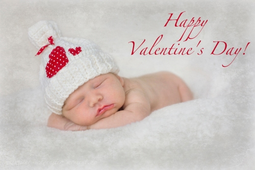 Neugeborenenfotografie Valentinstag