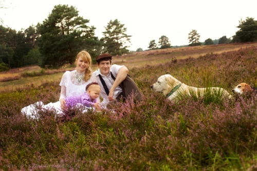 After Wedding Shooting Familienfotos Lüneburger Heide