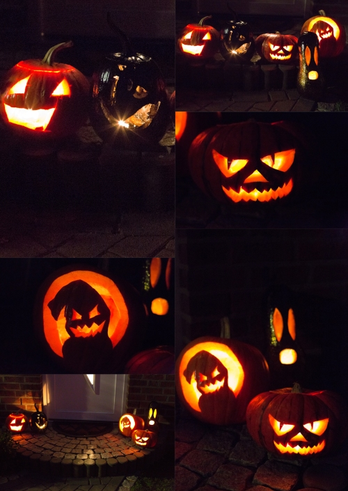 Collage Halloweenkuerbisse