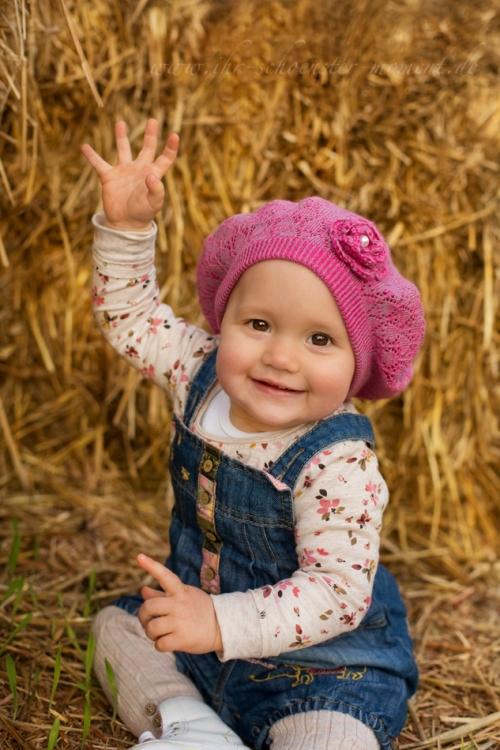 Babyfotografie im herbst Rosalie