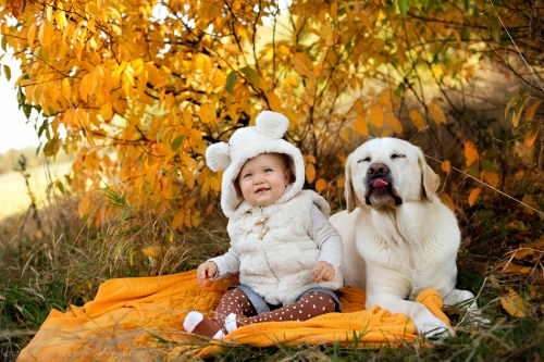 Babyfotos mit Hund in Buxtehude Eisbärchen-2