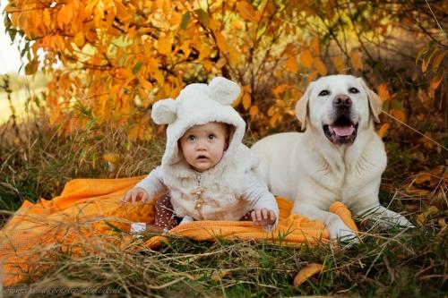 Babyfotos mit Hund in Buxtehude Eisbärchen-3