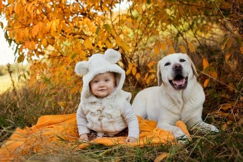 Babyfotos mit Hund in Buxtehude Eisbärchen-5