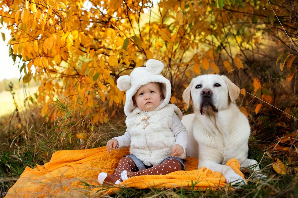 Babyfotos mit Hund in Buxtehude Eisbärchen