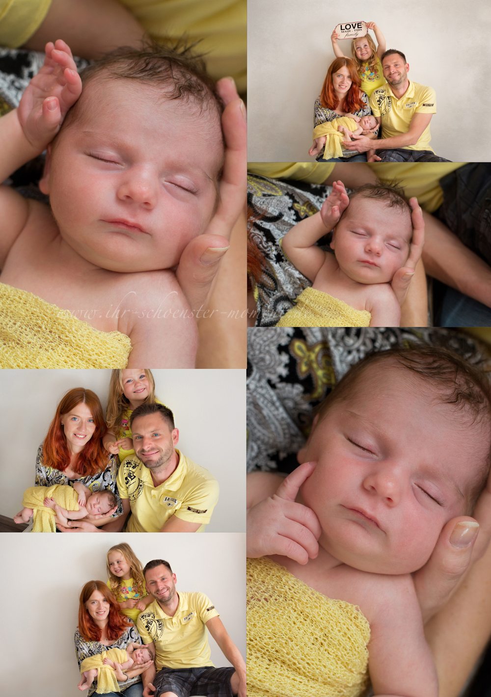 Collage Familienfotos
