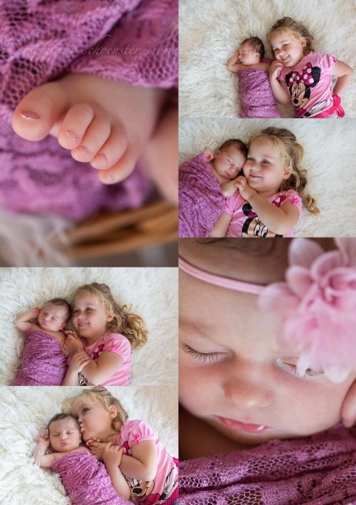 Collage Geschwisterfotos details