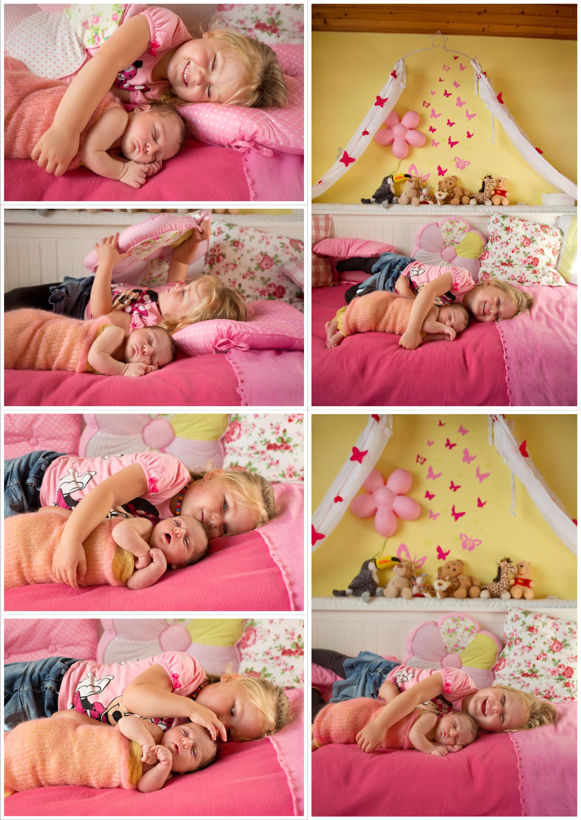 Collage Geschwisterfotos