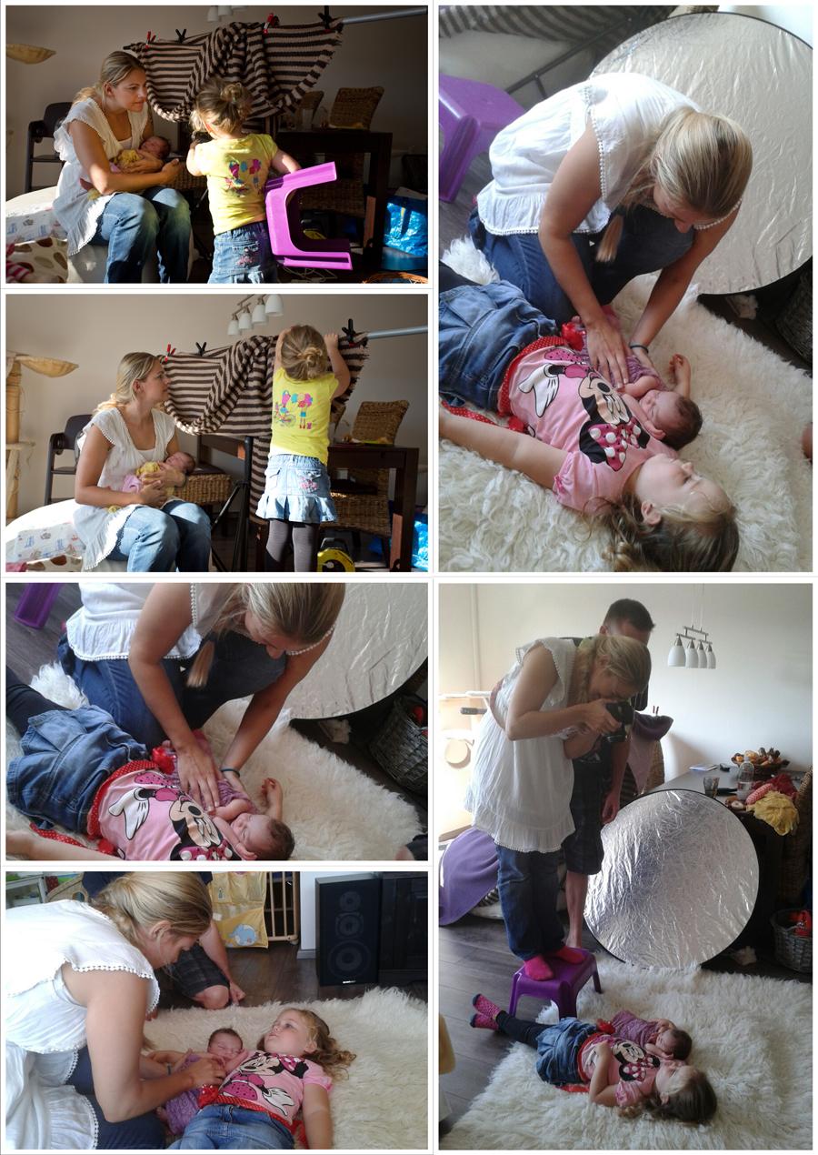 Collage Making Of Neugeborenenshooting Blog