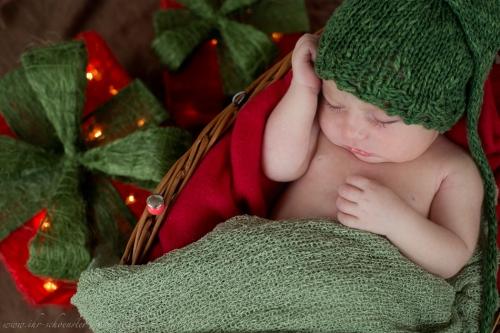 Neugeborenenfotos zu Weihnachten-18