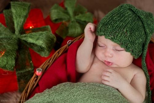 Neugeborenenfotos zu Weihnachten-19