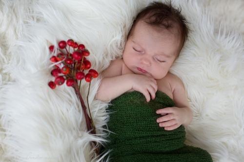 Neugeborenenfotos zu Weihnachten-2