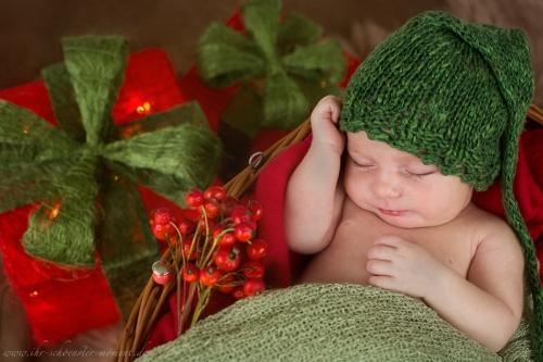 Neugeborenenfotos zu Weihnachten-20