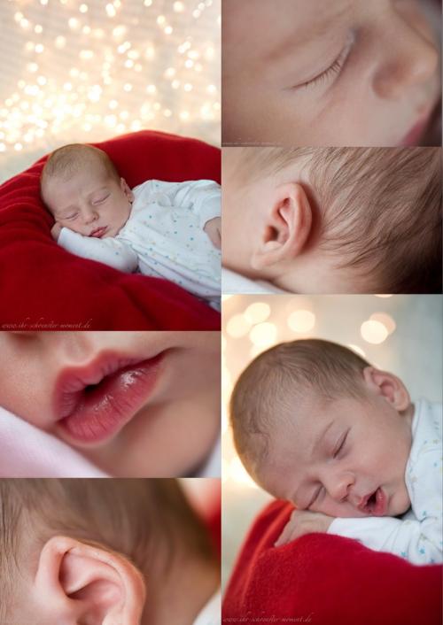 Collage Details Neugeborenenfotografie