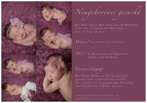 Modelaufruf Neugeborenes Mai 2015