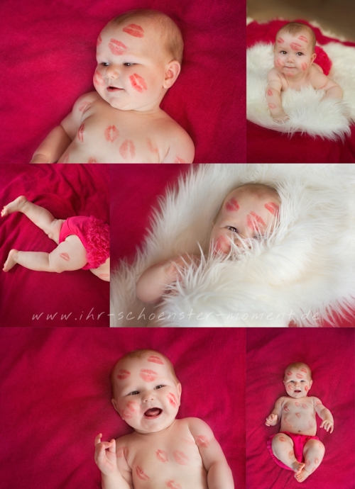 Collage Babyfotos Valentinstag 2016
