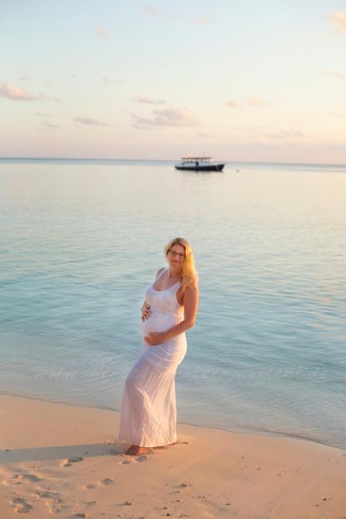 babybauchfotografie malediven