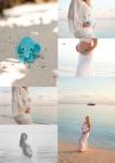 Collage Malediven Babybauch